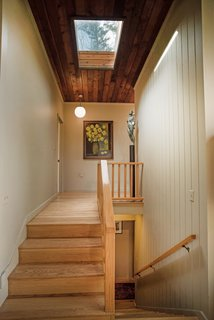Own an Iconic Midcentury in New Canaan For $1.55M - Photo 9 of 12 - The skylight in the hallway allows for even more natural light.