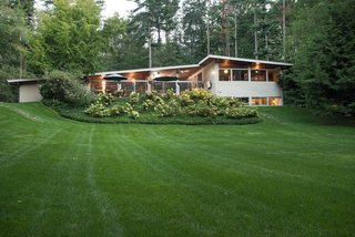 Own an Iconic Midcentury in New Canaan For $1.55M - Photo 12 of 12 - Above is one of the many breathtaking views available from the backyard.