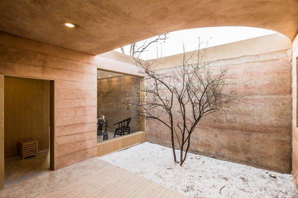 An interior courtyard.