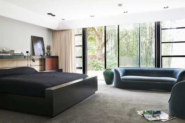 The master bedroom has its own private wing overlooking a garden.