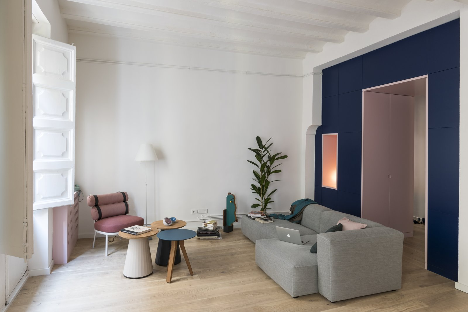 Before and After: An Ancient Barcelona Apartment Gets a Colorful, Chic Makeover