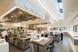 A Look Inside The French Laundry's Stunning $10M Renovation - Photo 8 of 11 - With 25 percent more working space than the previous kitchen, the expansion is meticulously organized and allows direct visual connections between all stations.