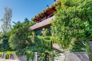 A Renovated Harry Gesner–Designed Midcentury in L.A. Wants $9.4M - Photo 2 of 15 - The back of the house features impressive outdoor spaces and a living roof succulent garden.