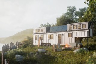 """12 Tiny House Companies That Can Make Your Micro-Living Dreams Come True - Photo 1 of 12 - Everywhere Tiny Homes was founded in 2016 out of a desire to travel. Founder Brand Winnie bought a 30-foot travel trailer, remodeled it, and has been living in it with his family ever since. """"We're not trying to just be another tiny house builder. There are hundreds. We're trying to build a community and a platform that can scale, as so many millennials are looking at alternative housing options and just don't want to deal with 30-year mortgages,"""" says Winnie. Each tiny home comes handcrafted on wheels and there are six different style options to choose from—perfect for nomadic living that feels less RV and more like a real home. Models start at $55,000 and range in size from 230 to 438 square feet."""