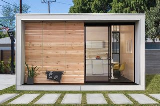 12 Tiny House Companies That Can Make Your Micro-Living Dreams Come True - Photo 3 of 12 - Icelandic natives Erla Dögg Ingjaldsdóttir and Tryggvi Thorsteinsson of Minarc have created Plús Hús, a 320-square-foot tiny dwelling. The Los Angeles–based duo designed this home to be a sustainable and useful solution for addressing the city's housing shortage. The Accessory Dwelling Unit (ADU) is prefabricated at the company's facility in downtown Los Angeles, shipped flat pack, and assembled with minimal waste. The home starts at $37, 000 and can be delivered anywhere in the USA.
