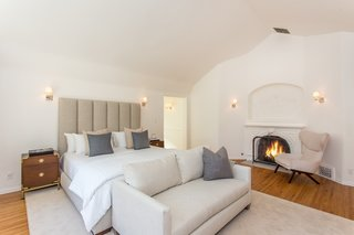 Moby Lists His Newly Renovated Los Feliz Manor For $4.5M - Photo 16 of 19 - An up-close view at the wood-burning fireplace.