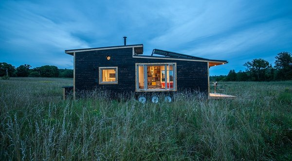 The Greenmoxie tiny house project is 340-square-feet, sustainably built , and can be completely off-the-grid. Completely customizable their prices start at $65,000.