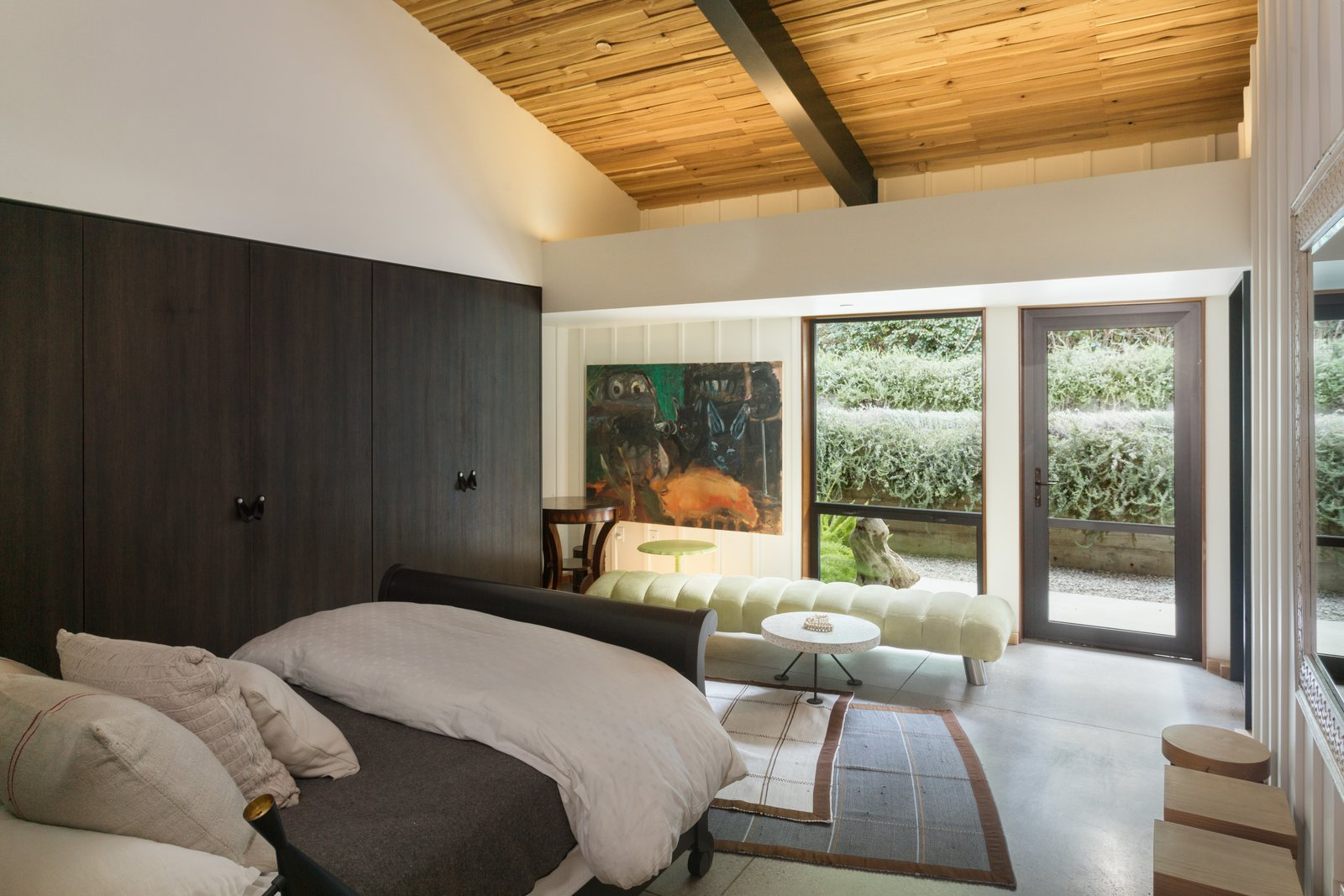 This bedroom opens to the terrace.