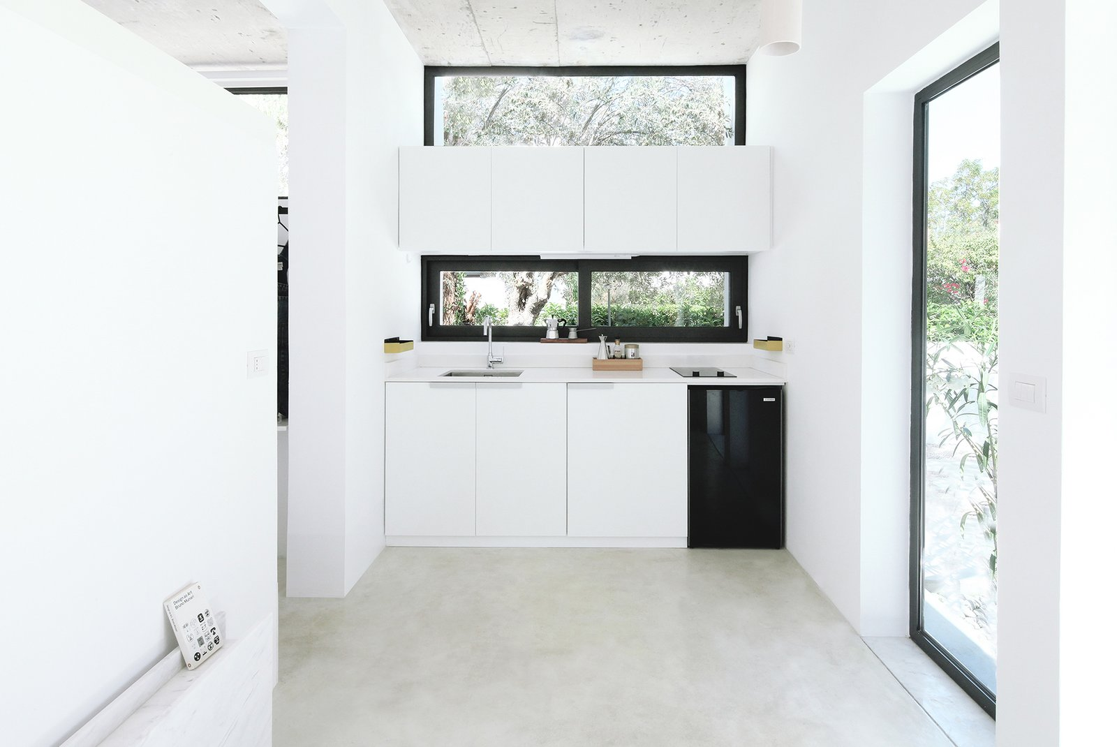 A look at the tiny kitchen. The Monocabin comes with a table which can be used either inside or outside for al fresco dining.