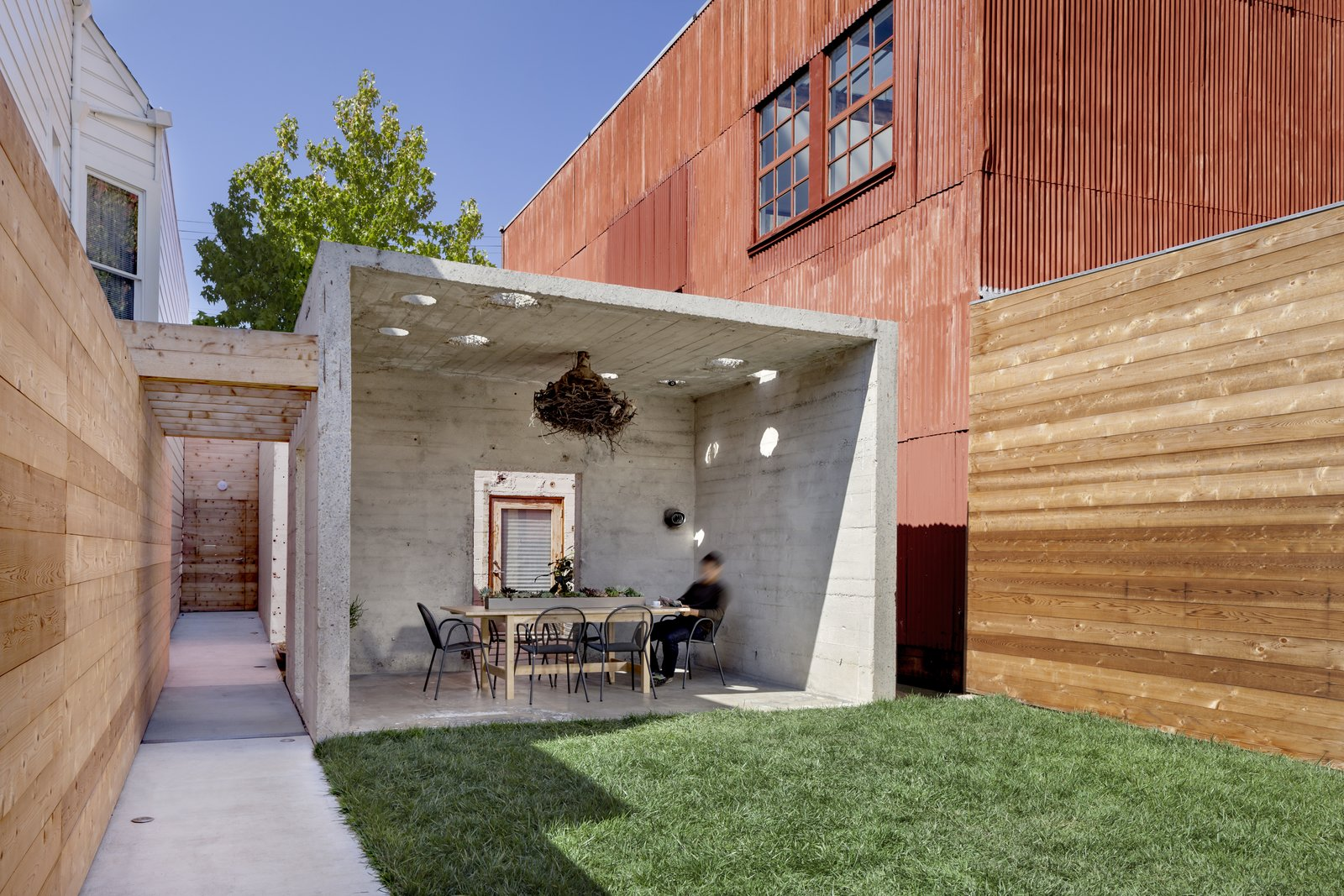 Tagged: Dining Room, Table, Chair, and Concrete Floor. Shotwell Residence by Todd Davis Architecture