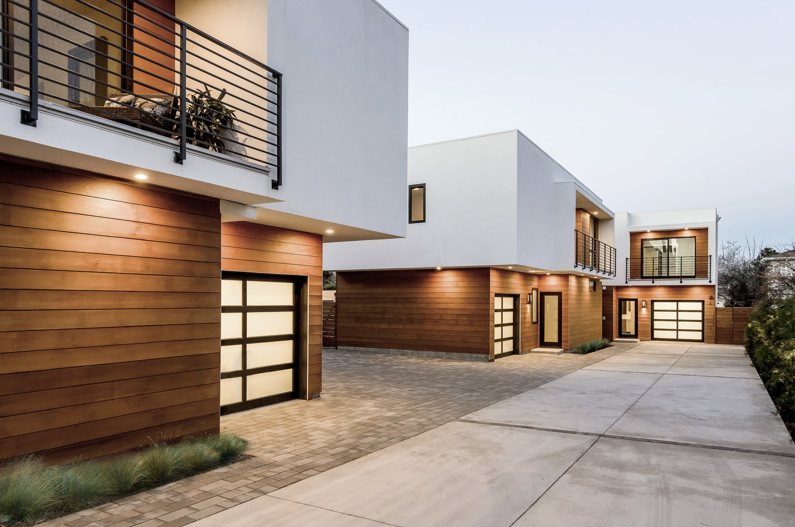 Tagged: Outdoor.  El Camino Real Triplex by Todd Davis Architecture