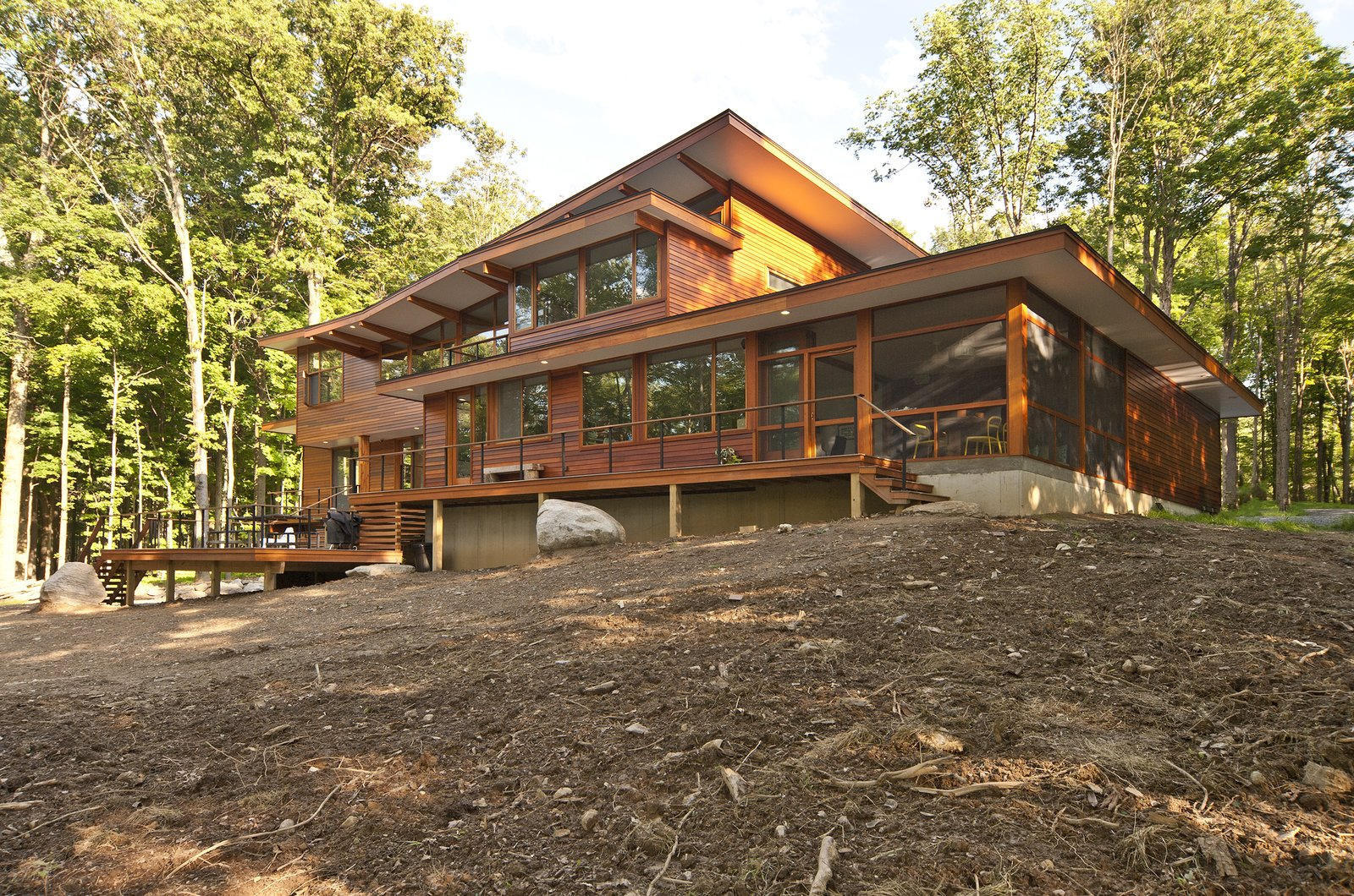 Photo by Deborah DeGraffenreid  Prefab Homes by Dwell from Wallkill River House