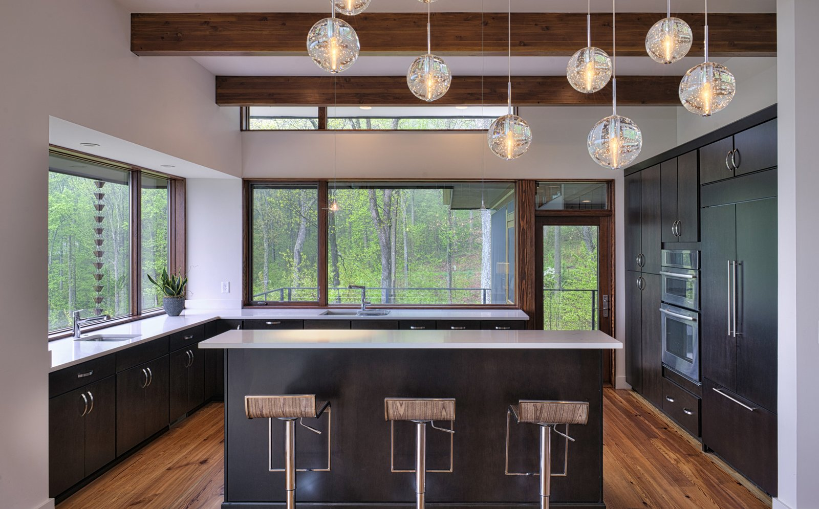Tagged: Kitchen, Refrigerator, Pendant Lighting, and Wall Oven.  Sweet Repose by Turkel Design