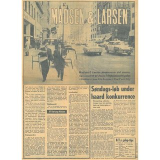 A Metropolitan Story - Photo 5 of 10 - A Danish news article covering the duo's successful trip to New York City. Chase Manhattan Bank purchased 450 pieces of the chairs for its New York headquarters.