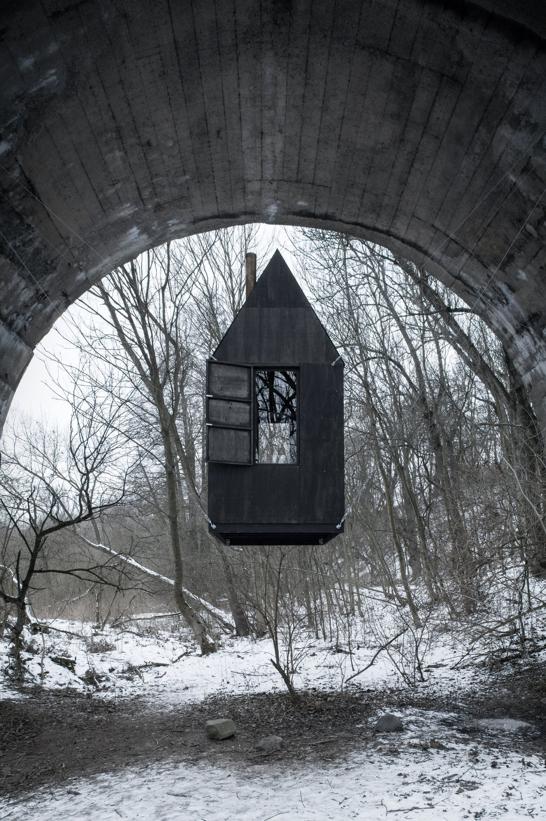 Black Flying House