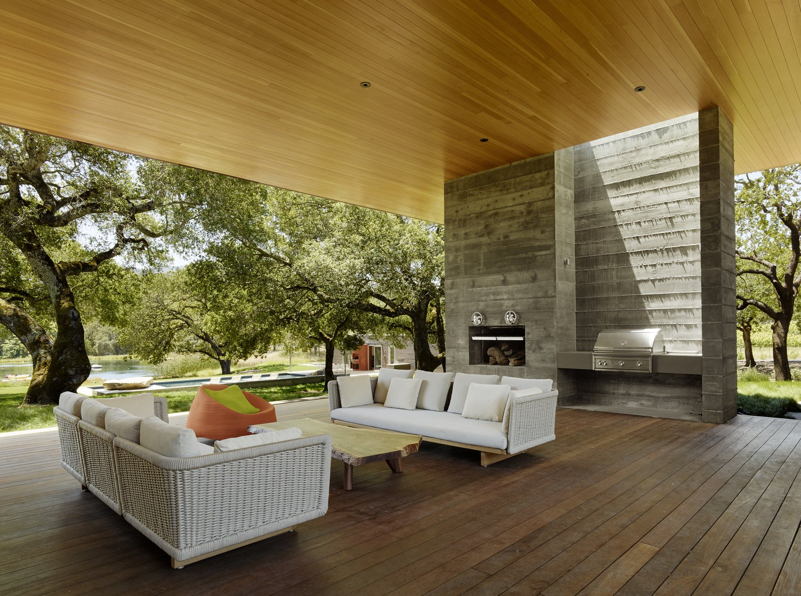 #TurnbullGriffinHaesloop #outdoor #exterior #landscape #barbecue  Sonoma Residence by Turnbull Griffin Haesloop Architects