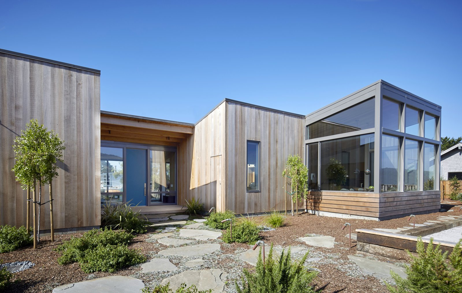 #TurnbullGriffinHaesloop #outdoor #exterior #landscape #window   Stinson Beach Lagoon Residence by Turnbull Griffin Haesloop Architects