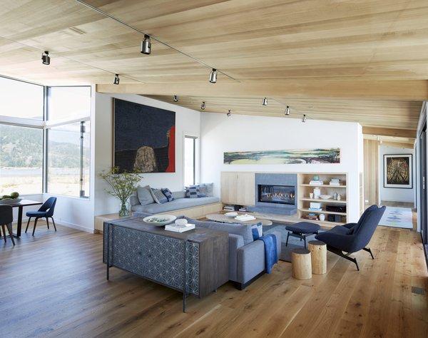 #TurnbullGriffinHaesloop #interior #livingroom #fireplace Photo 6 of Stinson Beach Lagoon Residence modern home