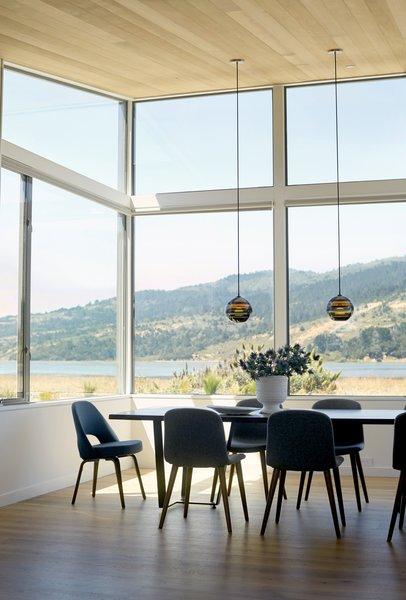 #TurnbullGriffinHaesloop #interior #diningroom #window  Photo 9 of Stinson Beach Lagoon Residence modern home