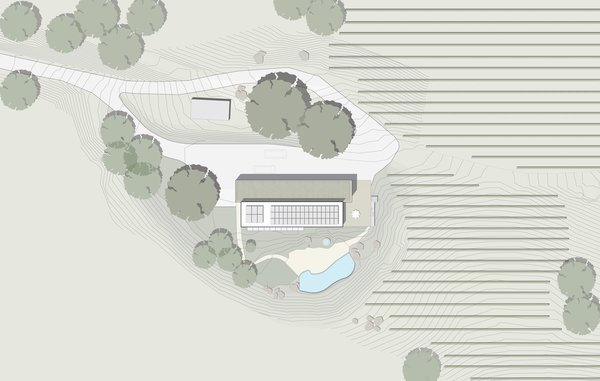 #TurnbullGriffinHaesloop #outdoor #exterior #landscape #plan Photo 4 of Cloverdale Residence modern home