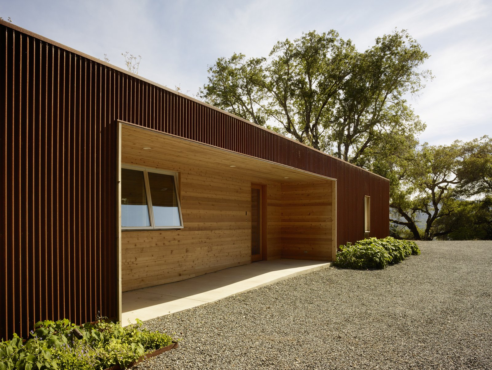 #TurnbullGriffinHaesloop #outdoor #exterior #corten #entry  Cloverdale Residence by Turnbull Griffin Haesloop Architects