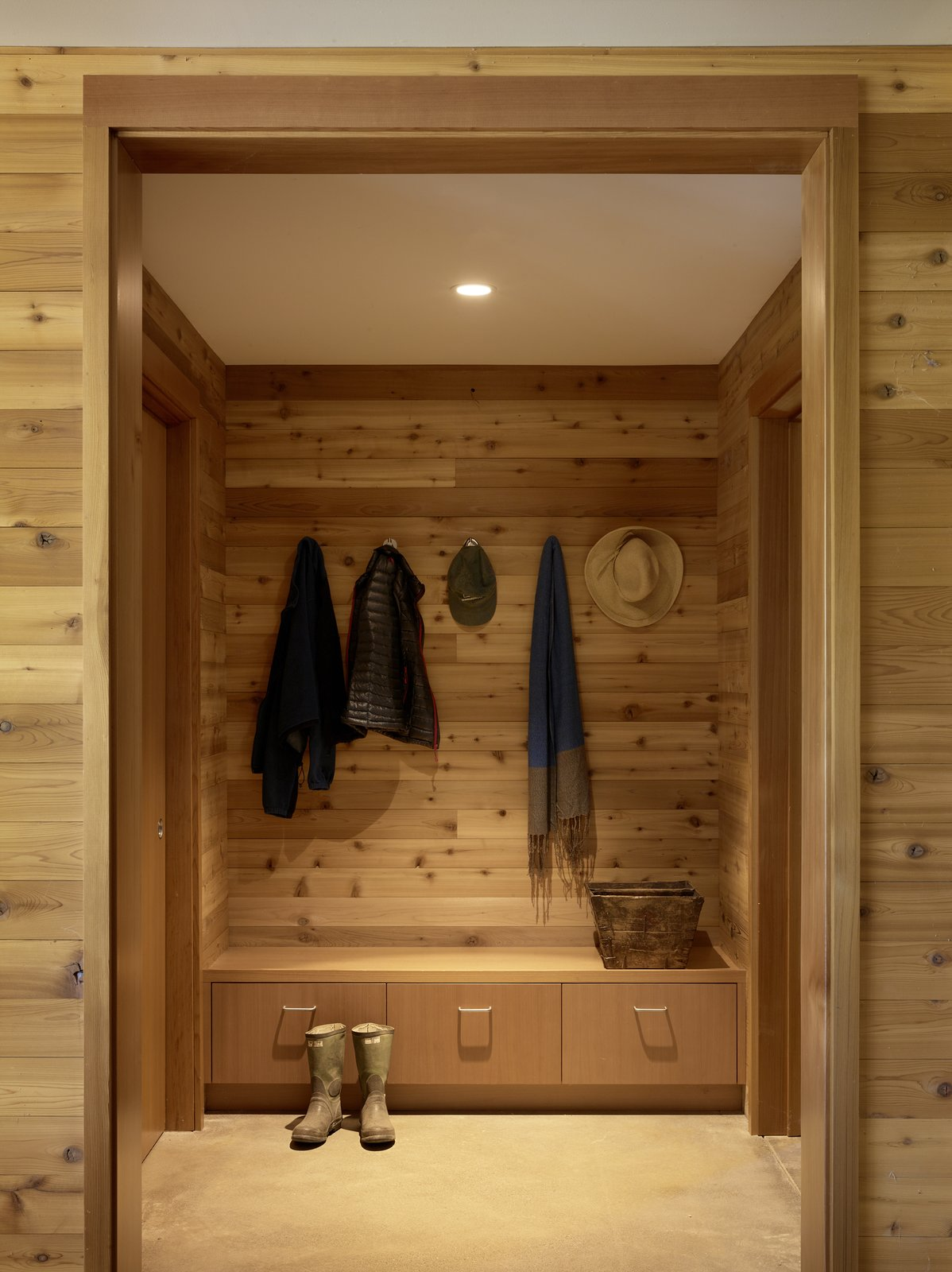 #TurnbullGriffinHaesloop #interior #mudroom  Tagged: Storage Room and Closet Storage Type.  Cloverdale Residence by Turnbull Griffin Haesloop Architects
