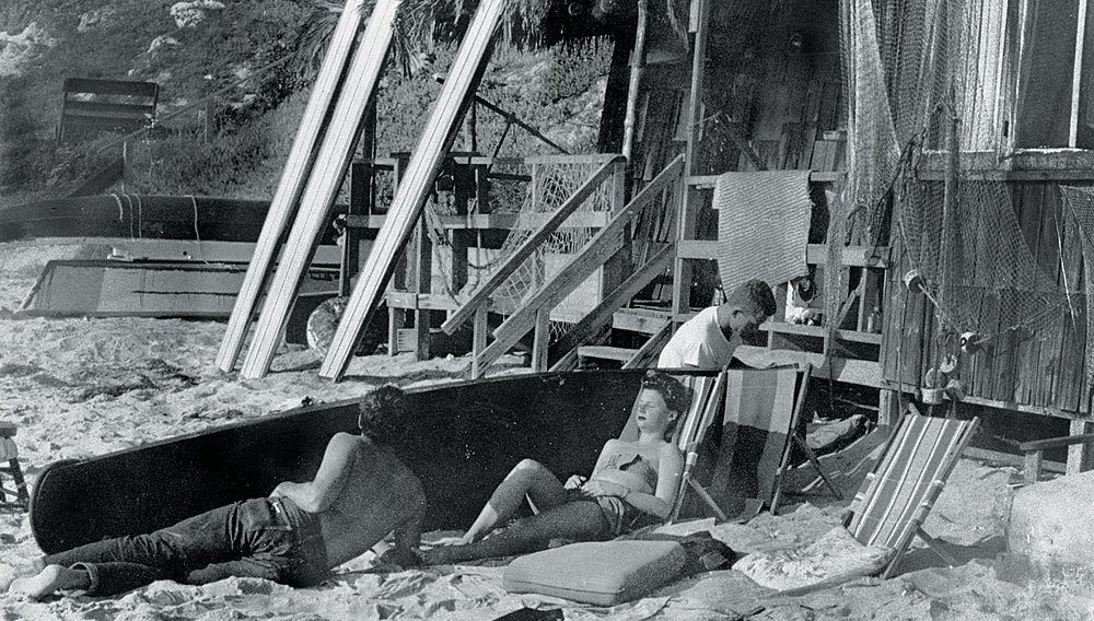 Laguna Beach 1930's  Surf Shacks by Chris Deam