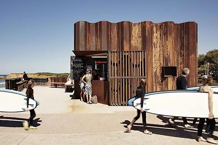 Third Wave Kiosk / Tony Hobba Architects  Surf Shacks by Chris Deam