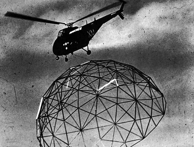 Buckminster Fuller dome transport  The Future was... by Chris Deam