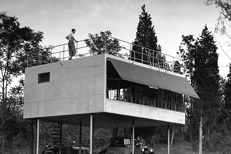 Albert Frey Canvas Weekend House  The Future was... by Chris Deam