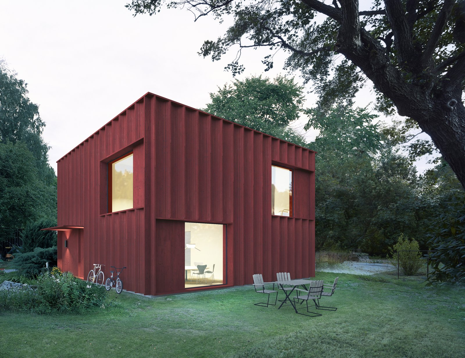 Hemnet  Swedish Prefab by Tham & Videgård Arkitekter  RED by Chris Deam