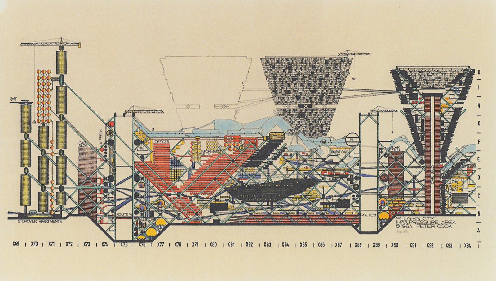 Archizoom, Plug in City, 1964  Free Radicals by Chris Deam