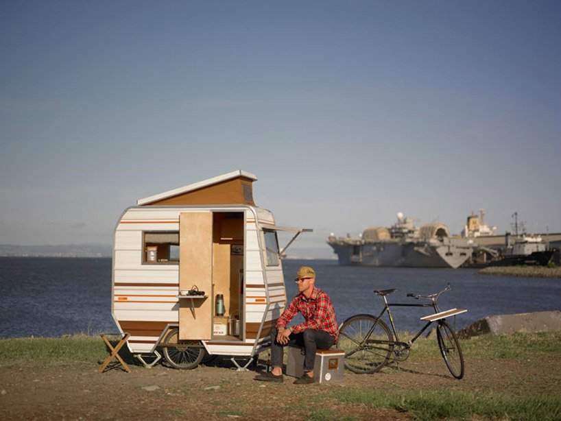 Artist Kevin Cyr's Bike Camper  Independence and Mobility by Chris Deam
