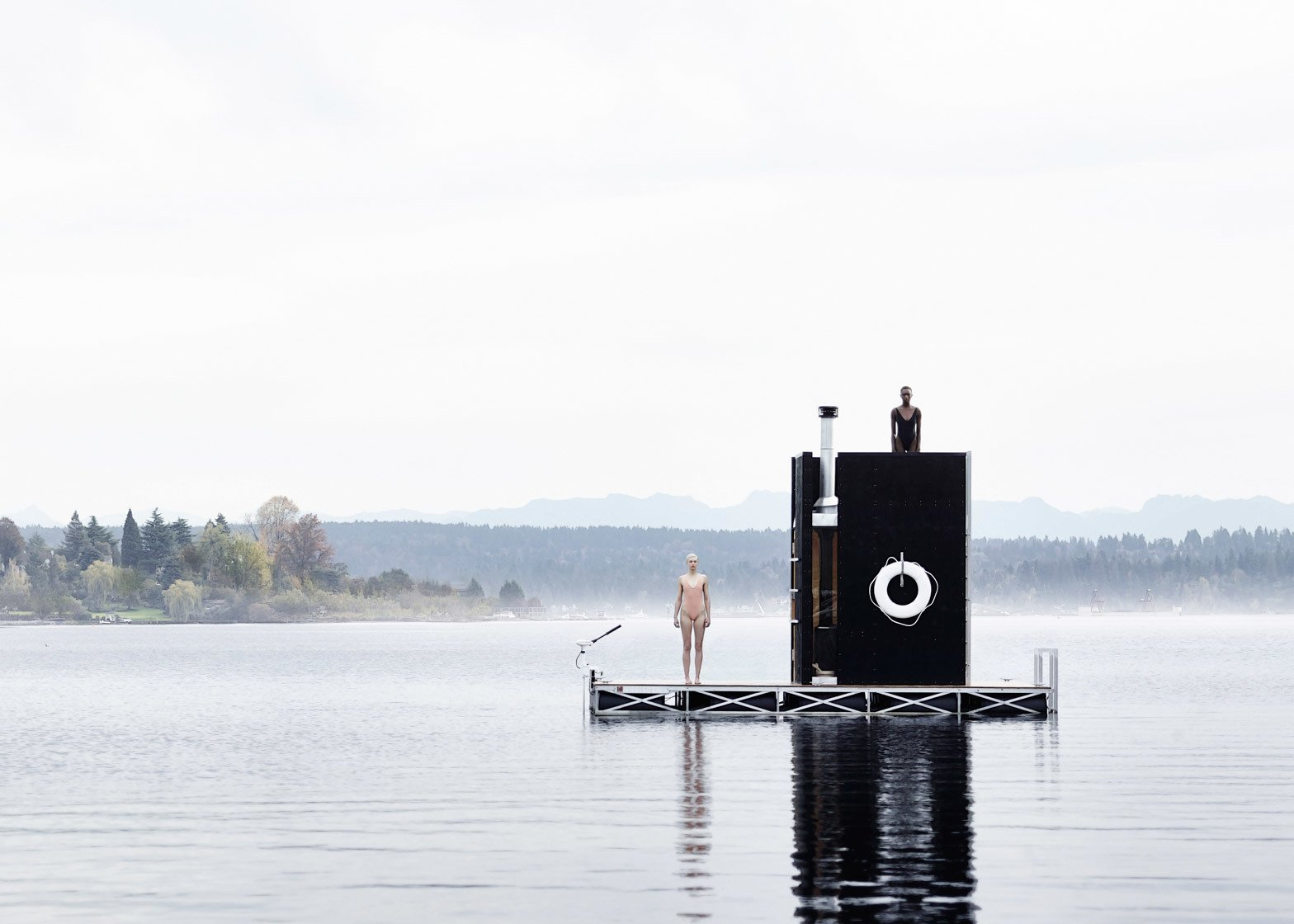 GOC Studio,  Floating Sauna, Seattle, Washington  Independence and Mobility by Chris Deam