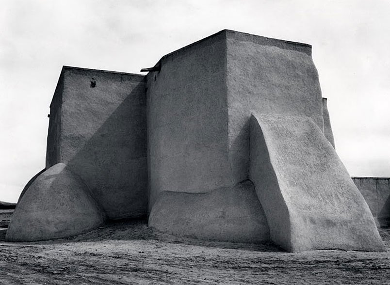 Ansel Adams, Saint Francis Church Ranchos de Taos, New Mexico, c. 1929  Architecture without Architects by Chris Deam