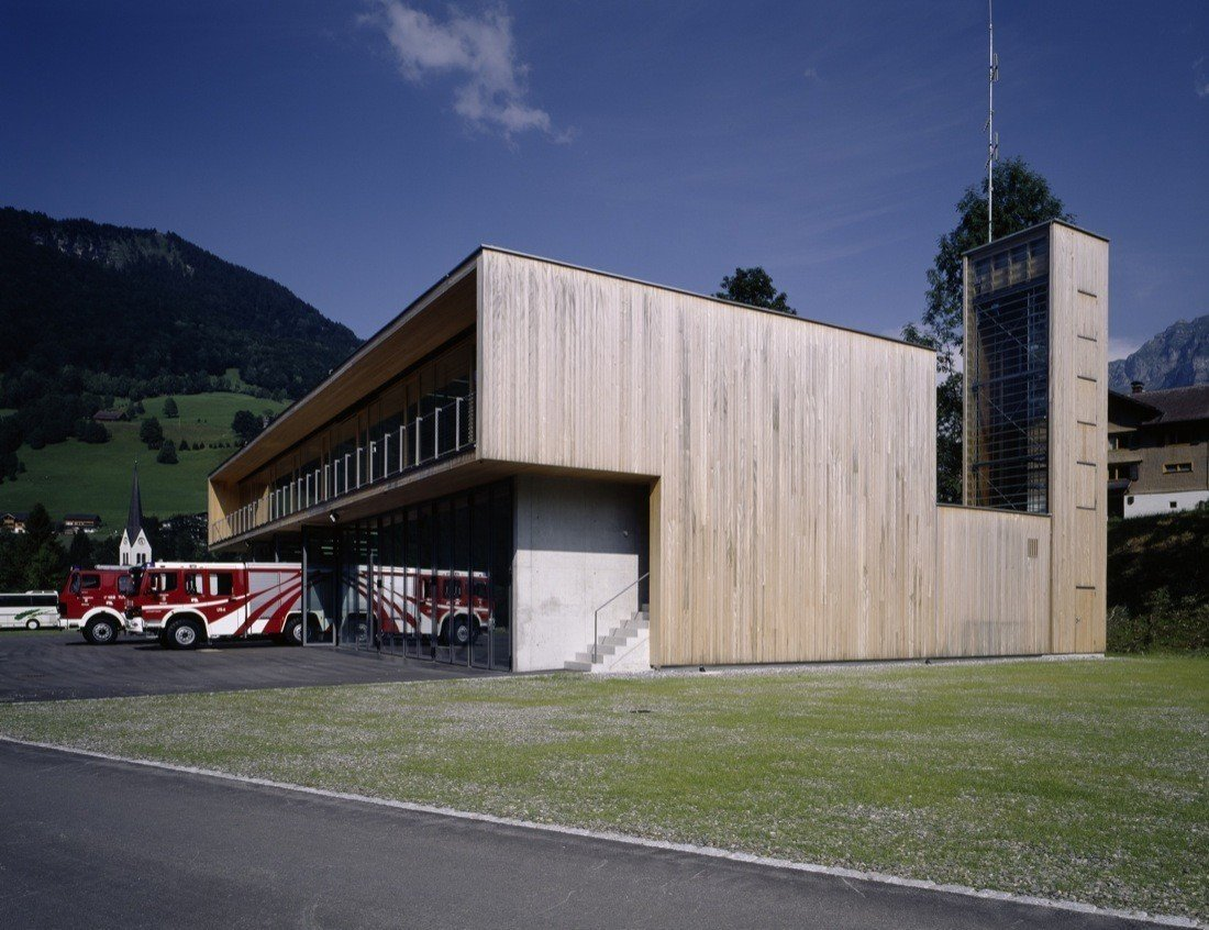 Dietrich | Untertrifaller Architekten  Firehouses by Lara Deam