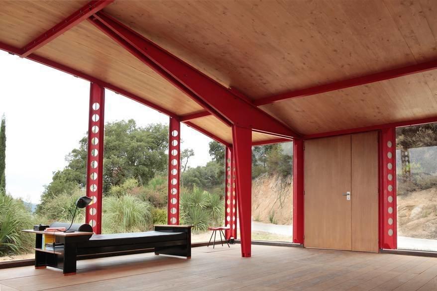 Prouve-esque  Demountable Structures by Chris Deam
