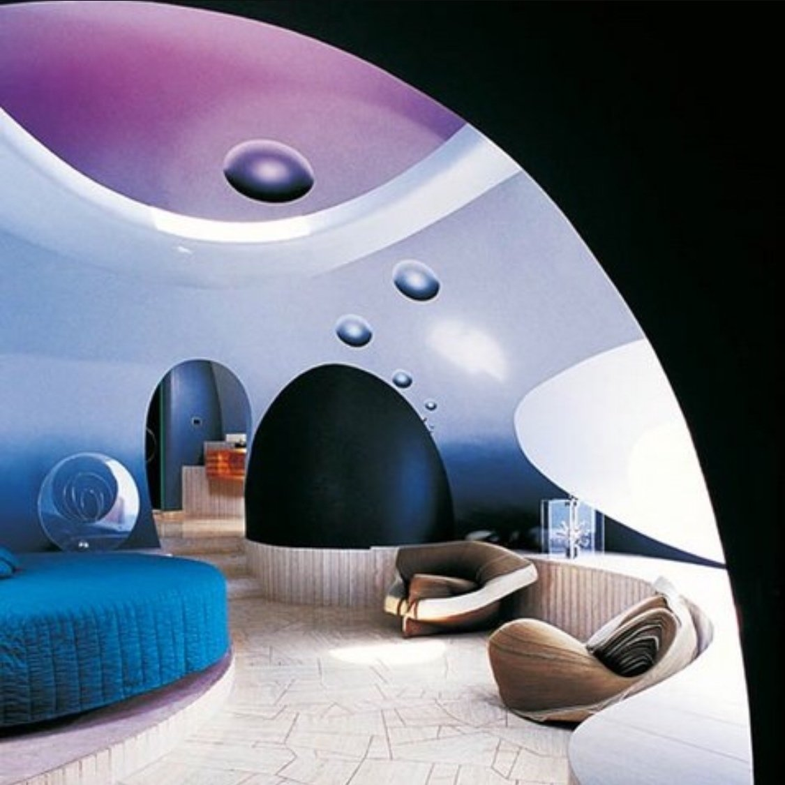 Pierre Cardin's Palais Bulles (bubble palace) by Antti Lovag 1975  The Future was... by Chris Deam