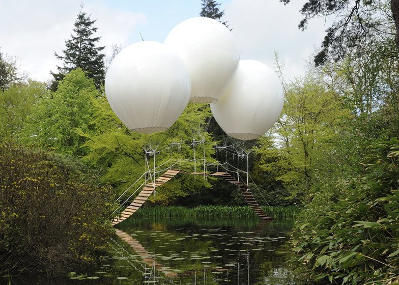 "Oliver Grossetête created Pont de Singe, which means ""monkey bridge"", for the Tatton Park Biennial, which this year was themed around flight.   Pneumatic Design by Chris Deam"