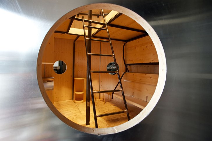 Refugee Tonneau interior  Independent works of Charlotte Perriand by Chris Deam