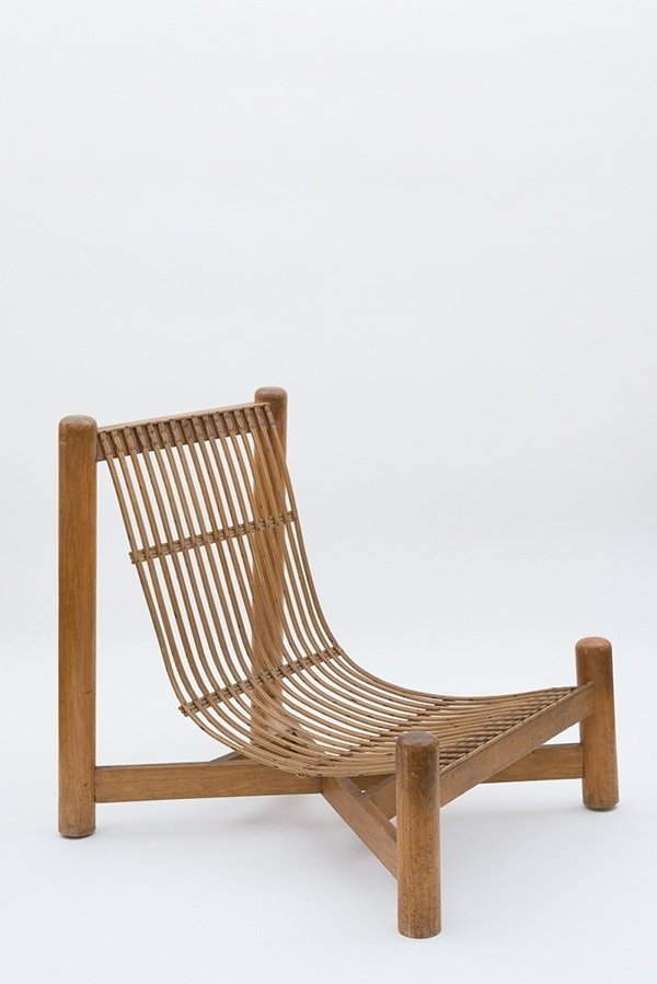 Low chair, c. 1050  Independent works of Charlotte Perriand by Chris Deam