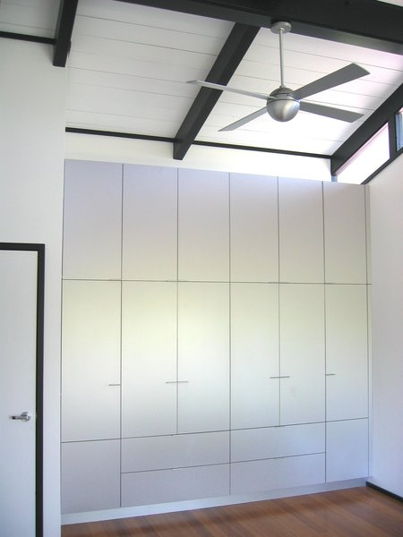 Aluminum Master Bedroom storage Photo 5 of Home for a Professor modern home