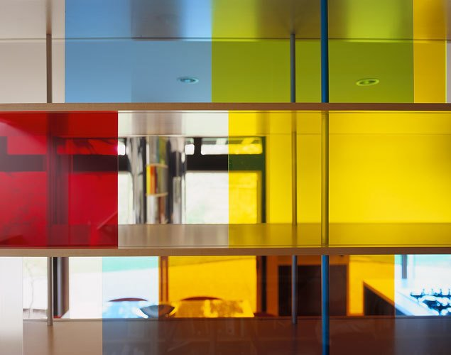 plexiglas shelving detail Tagged: Storage Room and Shelves Storage Type.  Home for a Professor by Chris Deam