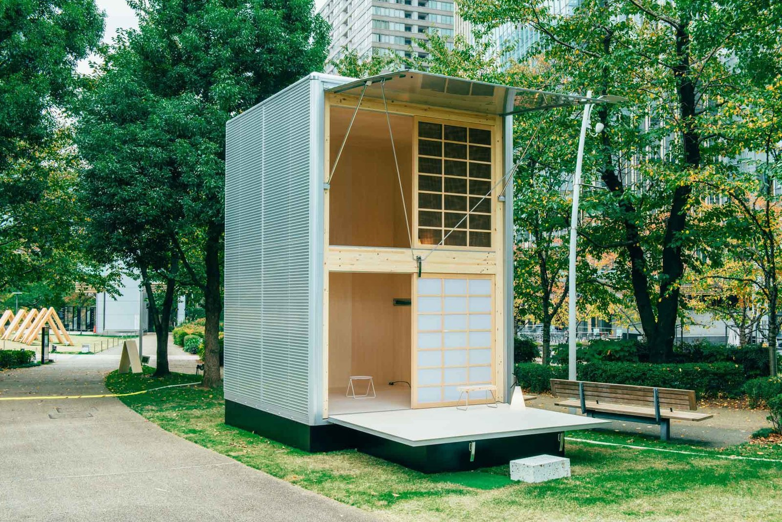 This aluminum MUJI Hut designed by Konstantin Grcic is small enough to not require a building permit.  Beautiful Prefabs by Jill Southern
