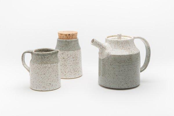 Ceramic stoneware tea set by Vancouver's Dahlhaus.