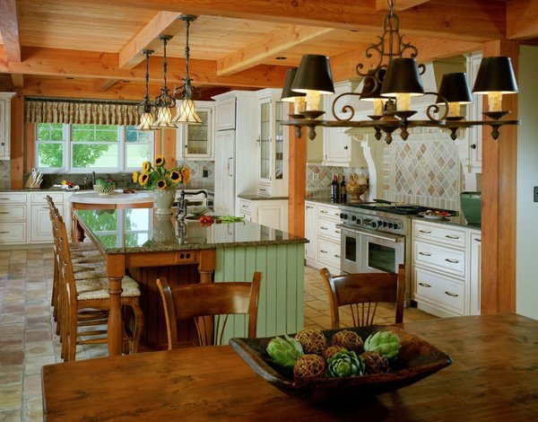 Timber Framed Kitchen Photo 11 of Yellow Brook Farm House modern home