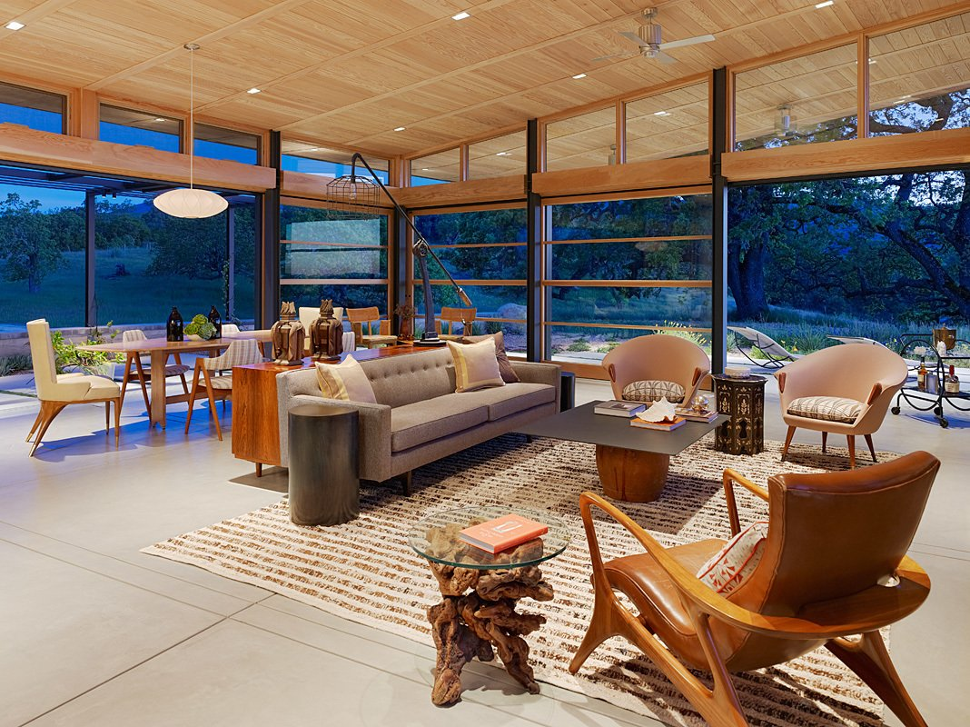 Caterpillar House Tagged: Living Room, Chair, Sofa, and Pendant Lighting.  Caterpillar House by Feldman Architecture