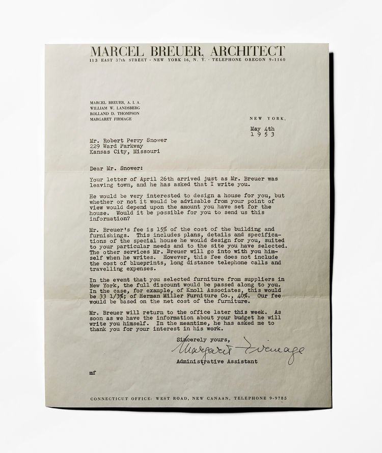 marcel breuer by pulltab from letters