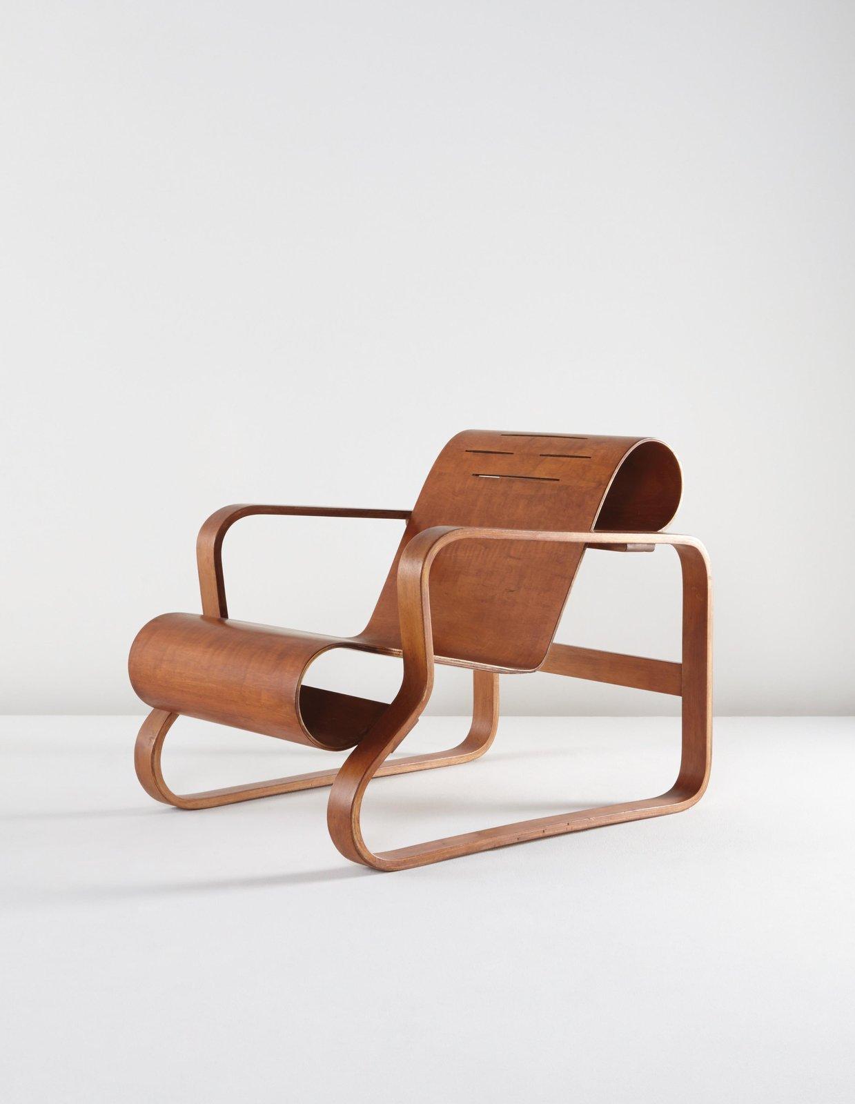 Alvar Aalto, early Paimio armchair, model 41/83C, circa 1935.  Photo Phillips.
