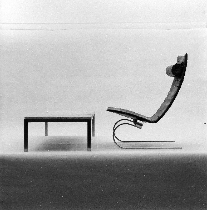 Poul Kjærholm, PK 20.  Photo: Keld Helmer-Petersen.  lounge chairs by pulltab